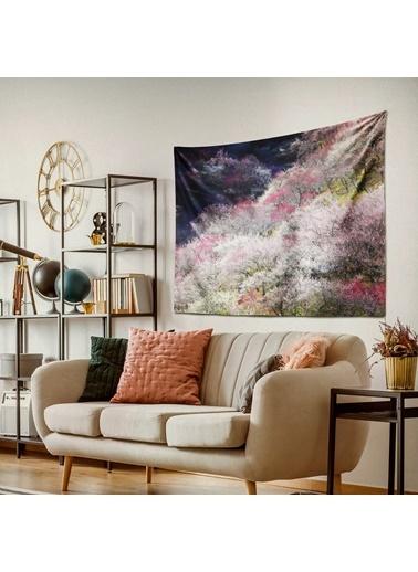 Eponj Home Tapestry Duvar Örtüsü 70x90 cm Serenity Pembe-Yeşil Pembe